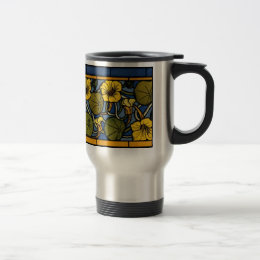 Maurice Pillard ( dit Verneuil ) Floral Art Nouvea Travel Mug