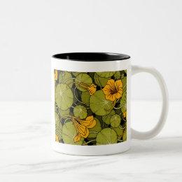 Maurice Pillard ( dit Verneuil ) Floral Art Nouvea Two-Tone Coffee Mug