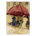 Maurice Prendergast- A Street in Rouen Greeting Cards
