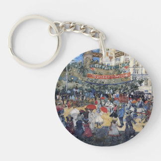 Maurice Prendergast- Madison Square Single-Sided Round Acrylic Keychain