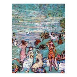 Maurice Prendergast- Picnic by the Sea Postcard