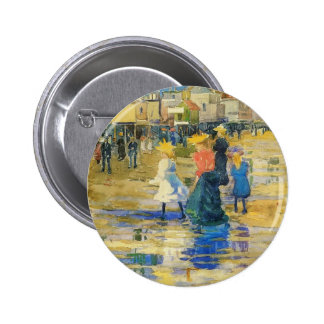 Maurice Prendergast- Revere Beach Pinback Buttons