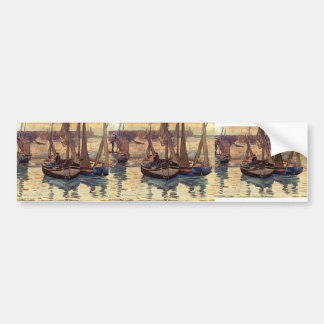 Maurice Prendergast- Small Fishing Boats, Treport Car Bumper Sticker