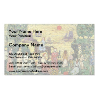 Maurice Prendergast- Sunset and Sea Fog Business Cards