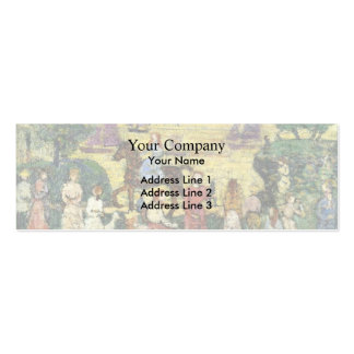Maurice Prendergast- Sunset and Sea Fog Business Card Templates