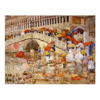 Maurice Prendergast- Umbrellas in the Rain Postcard