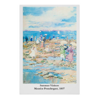 Maurice Prendergast's Summer Visitors Poster