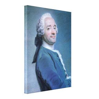 Maurice Quentin de La Tour - self-portrait Gallery Wrap Canvas
