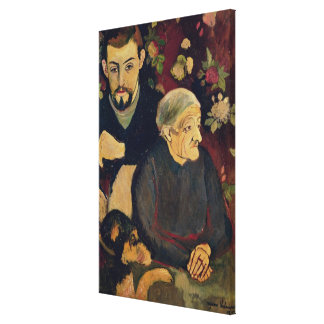Maurice Utrillo, his Grandmother and his Dog Canvas Print