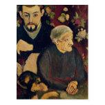 Maurice Utrillo, his Grandmother and his Dog Postcard