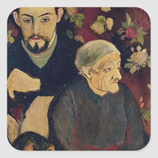 Maurice Utrillo, his Grandmother and his Dog Square Sticker