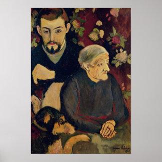 Maurice Utrillo, su abuela y su perro Poster