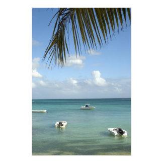 Mauricio, Baie magnífico. Barcos anclados en Fotografías