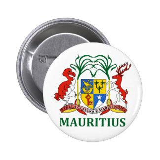 Mauricio - emblema/bandera/escudo de armas/símbolo pin redondo de 2 pulgadas