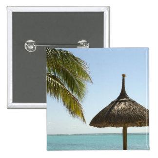 Mauricio Escena idílica de la playa con el paragu Pin