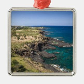 Mauricio, Mauricio occidental, belleza Vue, océano Adorno Cuadrado Plateado