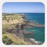 Mauricio, Mauricio occidental, belleza Vue, océano Pegatina Cuadrada
