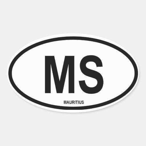"Mauricio ""ms "" calcomanías ovaladas"