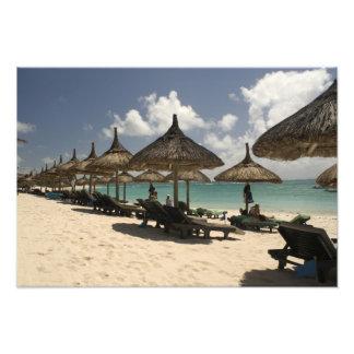 Mauricio, poste de Flacq. Escena de la playa en Fotografía