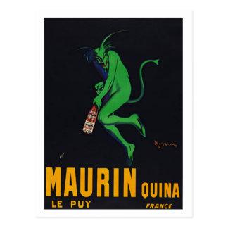 Maurin Quina Absinthe Postcard