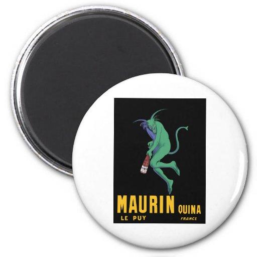 Maurin Quina - Cappiello 1906 - ajenjo Apertif Imán Redondo 5 Cm