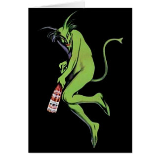 Maurin Quina Green Devil Absinthe Card