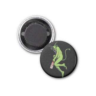 Maurin Quina Green Devil Absinthe 1 Inch Round Magnet