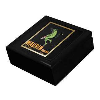 Maurin Quina Green Devil Absinthe Poster Trinket Boxes