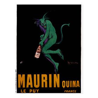 Maurin Quina Green Devil by Cappiello Postcard
