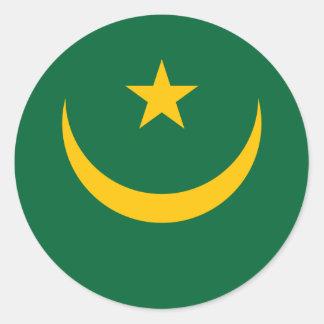 mauritania classic round sticker