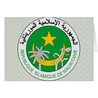 Mauritania Coat of Arms detail Greeting Card