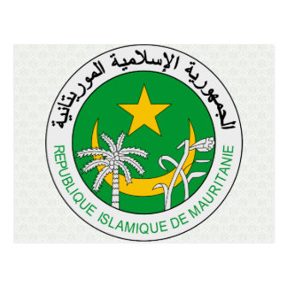 Mauritania Coat of Arms detail Postcard