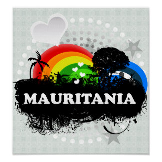 Mauritania con sabor a fruta linda posters