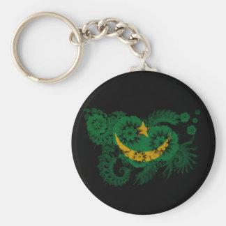 Mauritania Flag Basic Round Button Keychain