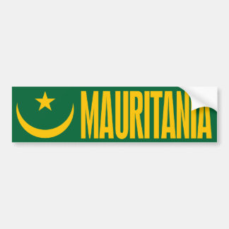 Mauritania Flag Car Bumper Sticker
