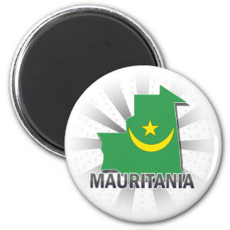 Mauritania Flag Map 2.0 Magnet