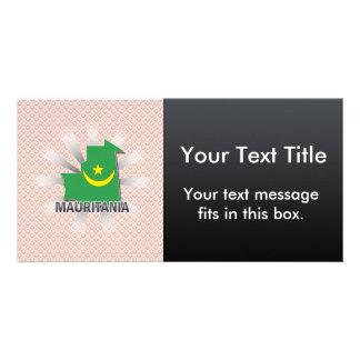 Mauritania Flag Map 2.0 Photo Card