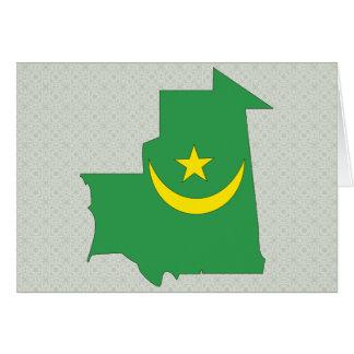 Mauritania Flag Map full size Greeting Card