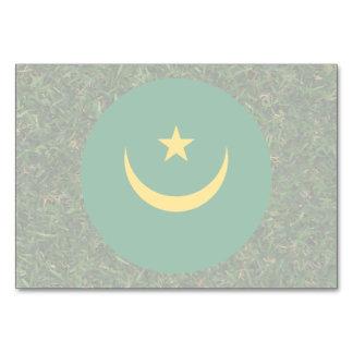 Mauritania Flag on Grass Table Cards