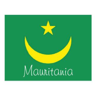 Mauritania flag postcard