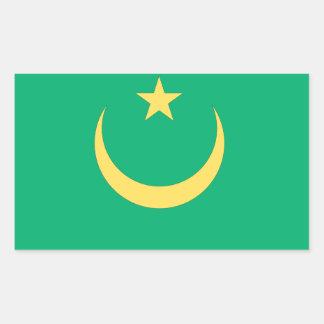 Mauritania Flag Rectangular Sticker