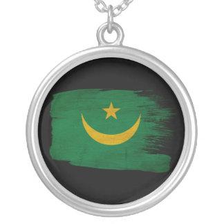 Mauritania Flag Round Pendant Necklace