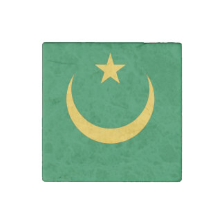 Mauritania Flag Stone Magnet