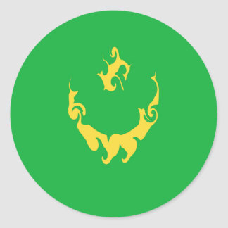 Mauritania Gnarly Flag Classic Round Sticker