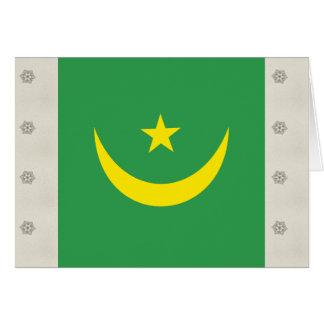 Mauritania High quality Flag Greeting Card