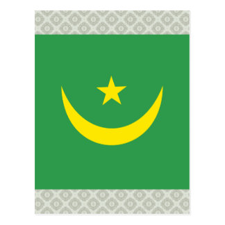 Mauritania High quality Flag Postcard