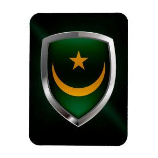 Mauritania Metallic Emblem Magnet