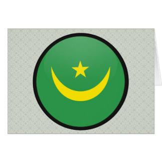 Mauritania quality Flag Circle Greeting Card