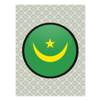 Mauritania quality Flag Circle Postcard
