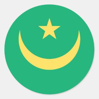 Mauritanian Flag Classic Round Sticker